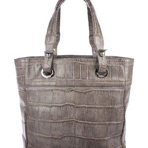 fdd6b3e0a7ef CHANEL Bags | Grey Alligator Small Parisbiarritz Tote | Poshmark